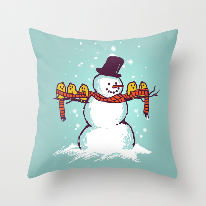 Sharing is caring (Winter edition) Throw Pillow