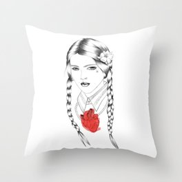 With Her Blessing Throw Pillow