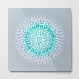 Turquoise Boho Mandala Metal Print