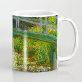 Claude Monet Impressionist Landscape Oil Painting-The Japanese Footbridge and the Water Lily Pool, Coffee Mug