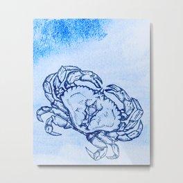 Crabby Mc Crabs Metal Print