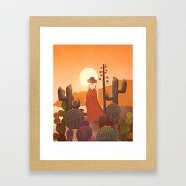 Beauty in the desert Framed Art Print