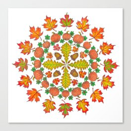 Autumn Mandala Canvas Print