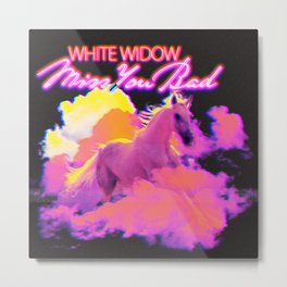 White Widow: Miss You Bad (Single Artwork) Metal Print