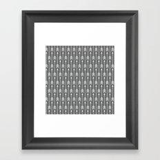 Grey Arrow Framed Art Print