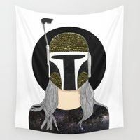 boba Wall Tapestries featuring Boba-Girl by Juana Andres