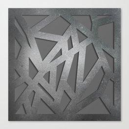 Metal Engraved Geometric pattern Canvas Print