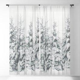 Snow Porn Sheer Curtain