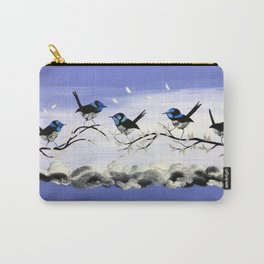 Purple Art with Gray Carry-All Pouch