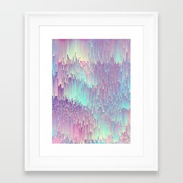 Iridescent Glitches Framed Art Print