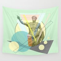 arnold Wall Tapestries featuring augustus the emperor by AmDuf