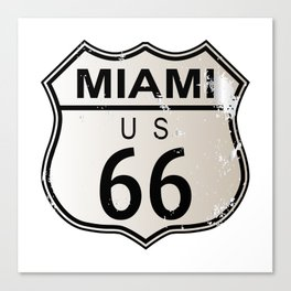 Miami Route 66 Canvas Print