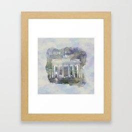 BERLIN Brandenburg Gate | watercolor Framed Art Print