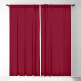Burgundy Solid Color Blackout Curtain