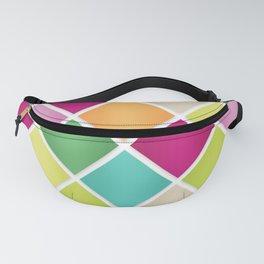Modern Diamond Geometric Pattern Design // Pink Orange Green Blue Fanny Pack