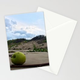 Apple in the Beach Stationery Cards