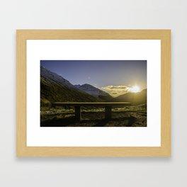 Edge of the Mountain Framed Art Print