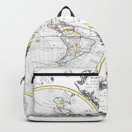 World map wall art 1665 dorm decor mappemonde Backpack