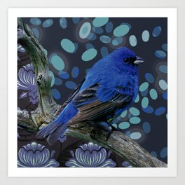 Blue sparrow Art Print