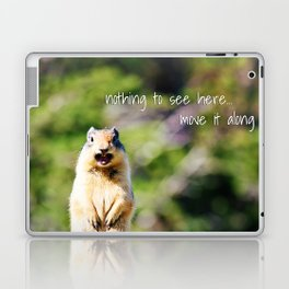 Angry Squirrel Has A Friend Laptop & iPad Skin