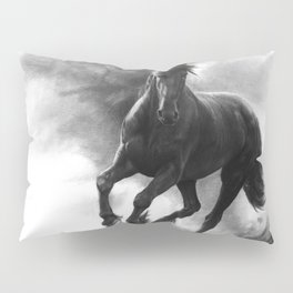 Horse in Storm - GRAPHITE DRAWING Pillow Sham
