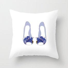 Hydrangea Shoes Throw Pillow