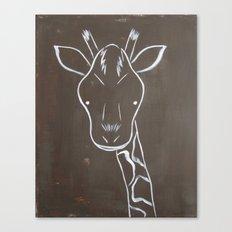 No. 004 - The Giraffe (Modern Kids & Nursery Art) Canvas Print