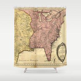 Map of North America circa 1763 (Carte de la Louisiane et des pays voisins) Shower Curtain