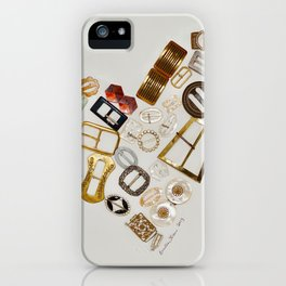 Vintage with a Smile - English vintage Buckle Heart Art iPhone Case