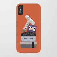 nintendo iPhone & iPod Cases featuring Nintendo Consoles by Michael Walchalk