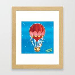 Goodnight Unicorn Balloon Kid Framed Art Print