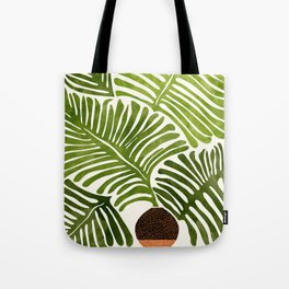 Summer Fern / Simple Modern Watercolor Tote Bag