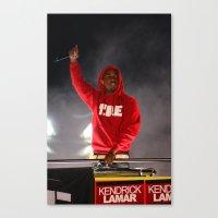 kendrick lamar Canvas Prints featuring Kendrick Lamar  by Porterhouse LA
