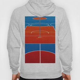 The Court in Red and Blue (Color) Hoody
