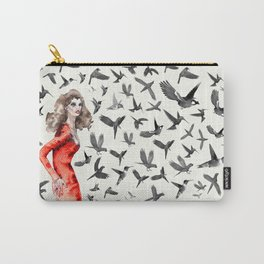 Barcelona Summer Bird Lady Carry-All Pouch