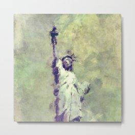 Textured Statue of Liberty Metal Print