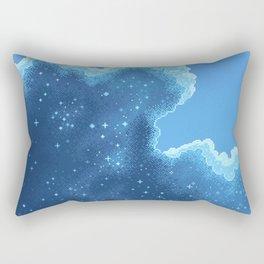 8bit Glacier Galaxy: Art Along #2 Rectangular Pillow