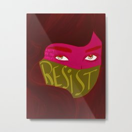 Resist! Metal Print