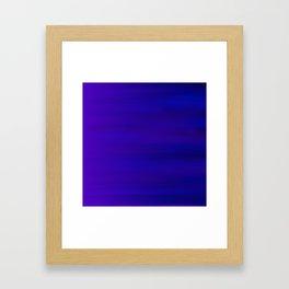 Ultra Violet to Indigo Blue Ombre Framed Art Print