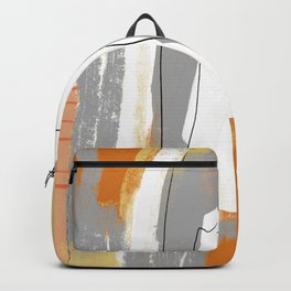 Mid Century Modern Orange Abstract  Backpack