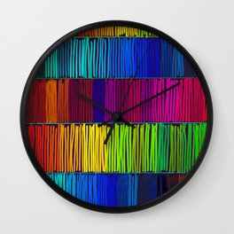 Prismatic Rainbow (Reverse) Wall Clock