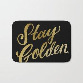 Stay Golden (Black & Gold) Bath Mat