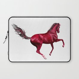 Happy Horse in Red Laptop Sleeve