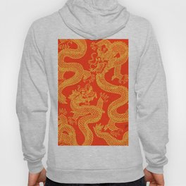 Red and Gold Battling Dragons Hoody