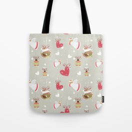 Christmas Elements Design Pattern 2 Tote Bag