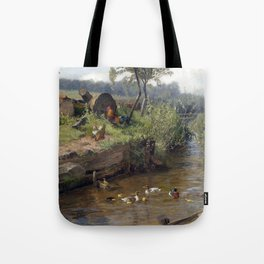 Carl Jutz Duck Family at the Weir Tote Bag