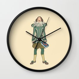 Outfit of Shakespeare Wall Clock