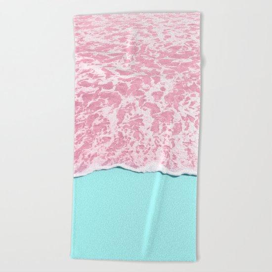 PINK SEA Beach Towel