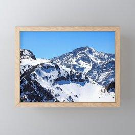 Snow Mountain in Chile Framed Mini Art Print