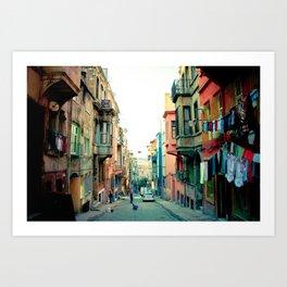 Istanbul colors Art Print